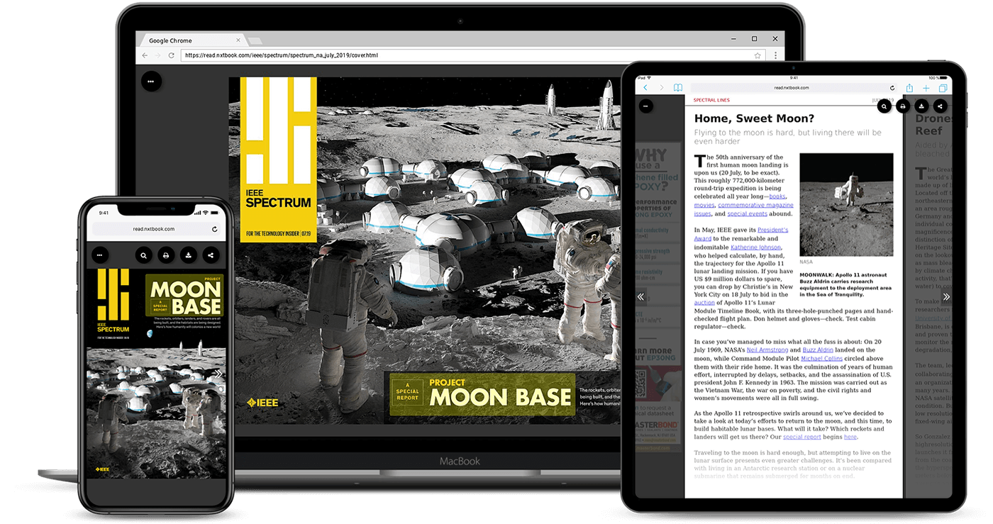 digital magazine example on multiple devices