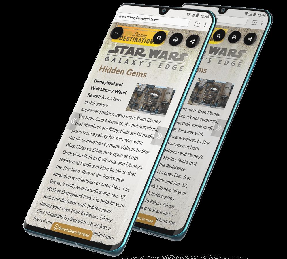 PageRaft mockup example Star Wars