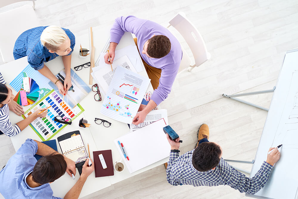 A marketing agency developing a digital strategy for their clients