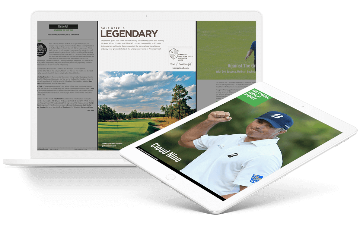 A golf magazine created in PageRaft