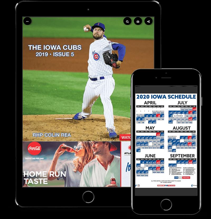 Sports League Digital Program Guide on an iPad
