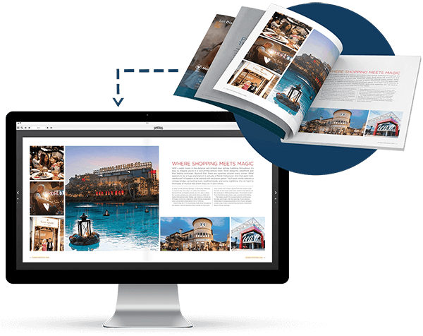 A print magazine converted to digital in nxtbook