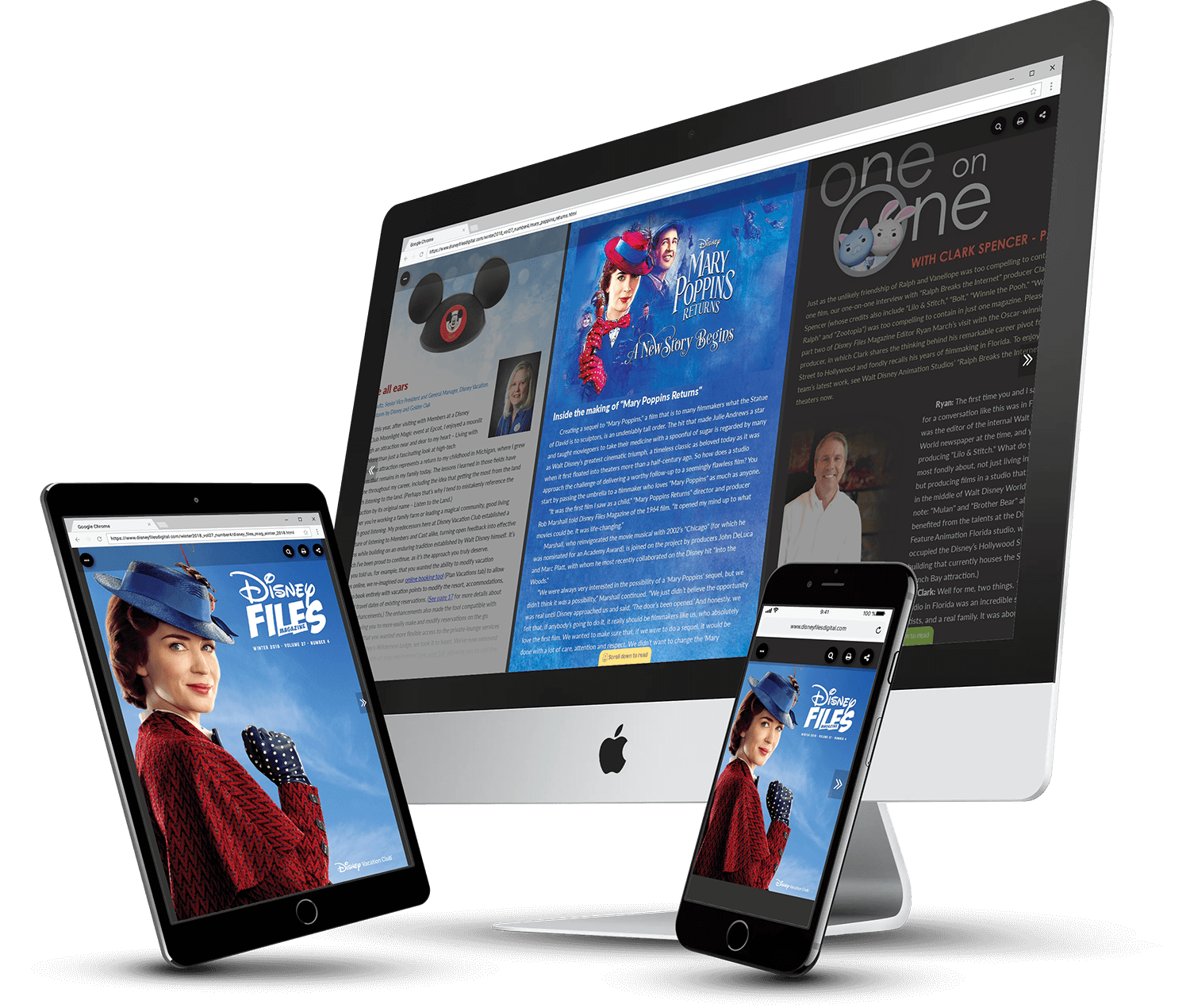 Disney Files Digital Magazine Created in PageRaft