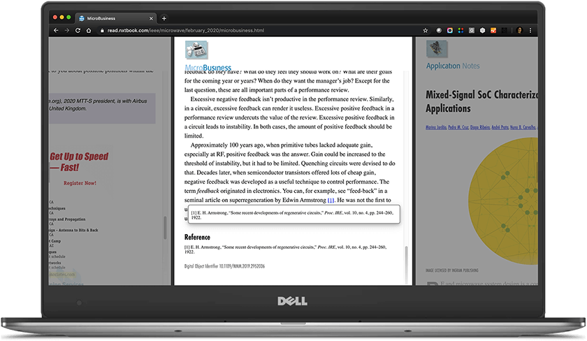 Reference links in Page Raft displayed on a laptop