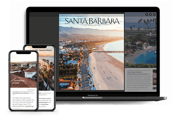 Travel guide on iphone and laptop