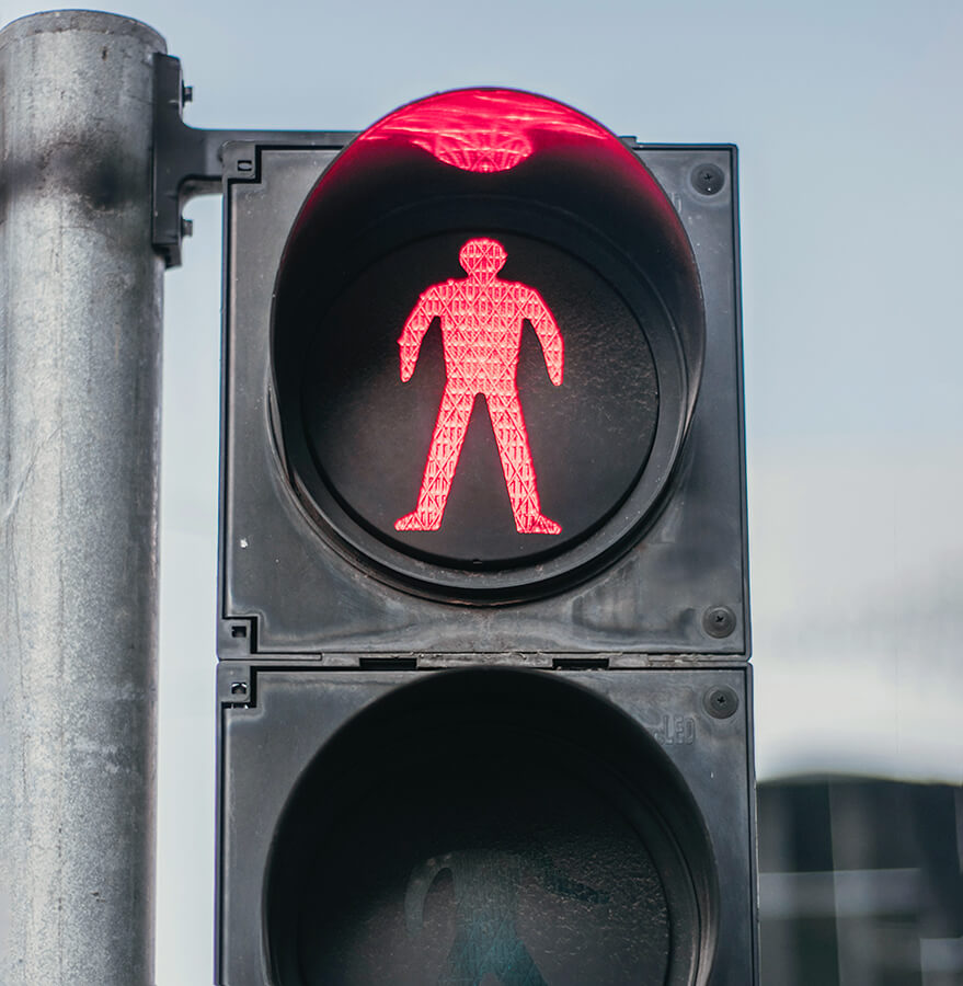 Red light stop using pdfs