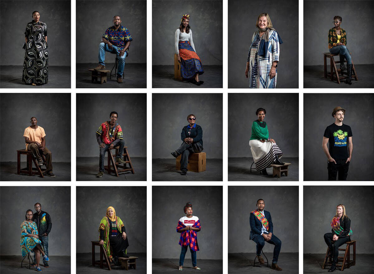 a grid of portraits of people from many cultures
