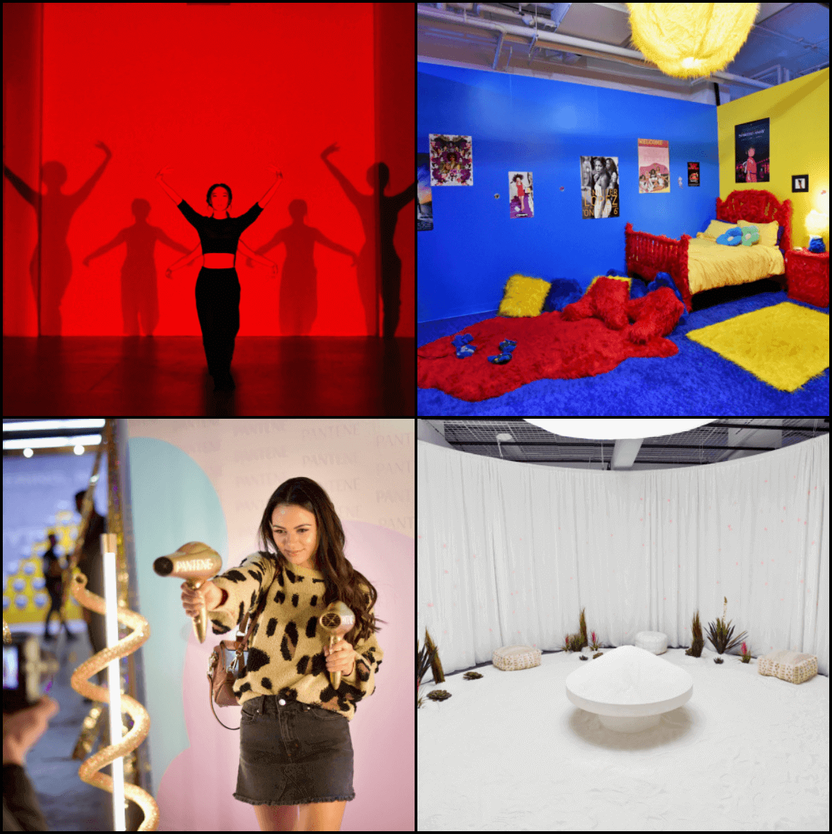 images from the 29 rooms collage