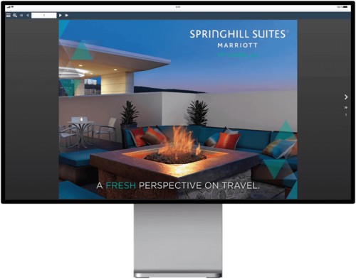 Springhill Suites interactive digital brochure