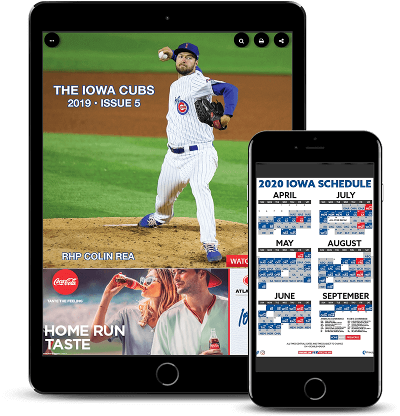 Iowa Cubs PageRaft publication on mobile devices